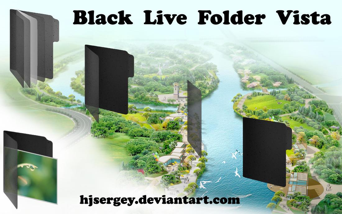 Black Live Folder Vista by hjsergey