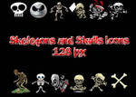 Skeletons and Skulls Icons