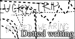 Dotted writing PS brushes by foley-resources
