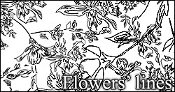 Flower's lines PS brushes by foley-resources