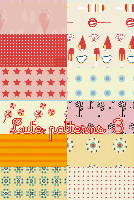 Cute patterns 03 by foley-resources
