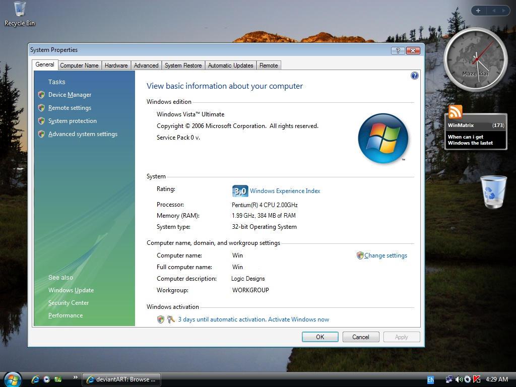 5381 Activation Vista Window - tubeplayer