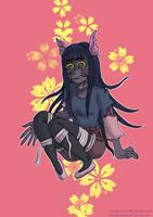 Monster girl 2 ~~ by Chibiklompen