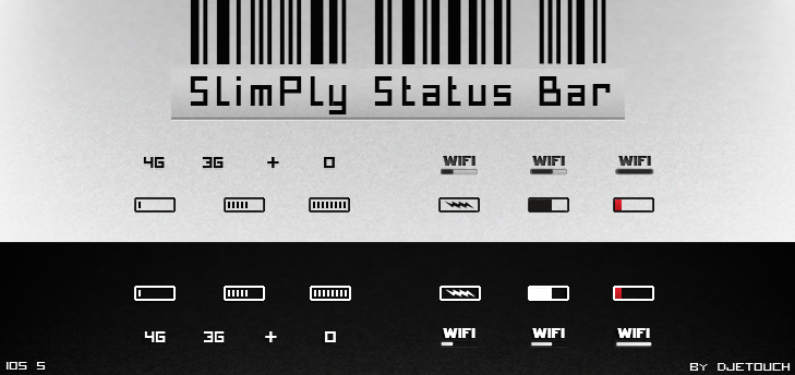 SlimPly Status Bar V.2 by DjeTouch59