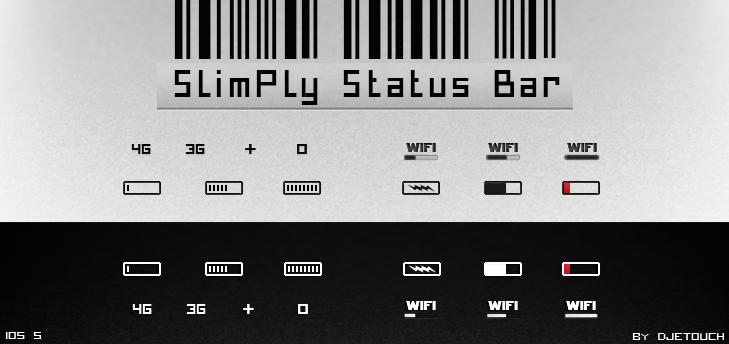SlimPly Status Bar V.2 by DjeTouch59
