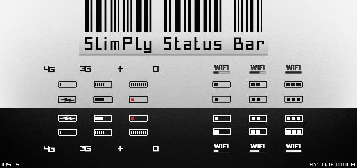 SlimPly Status Bar V.3 by DjeTouch59