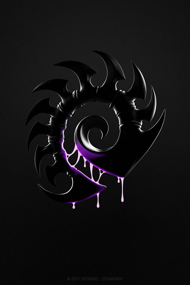 Starcraft zerg dark version by keyan3d on deviantart - Zerg wallpaper ...