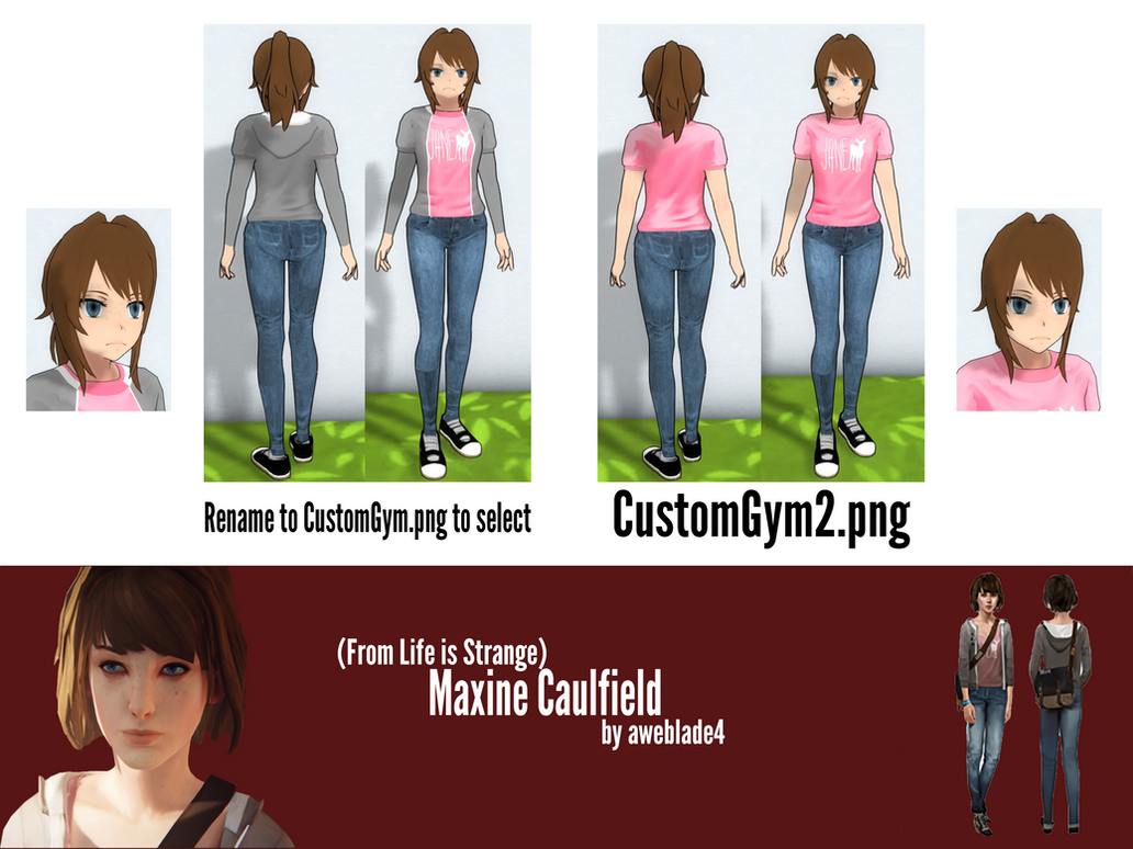 Yandere Simulator Skin Maxine Caulfield By Aweblade4 On Deviantart
