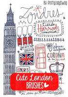 Cute London Brushes by PrettyLadySwag