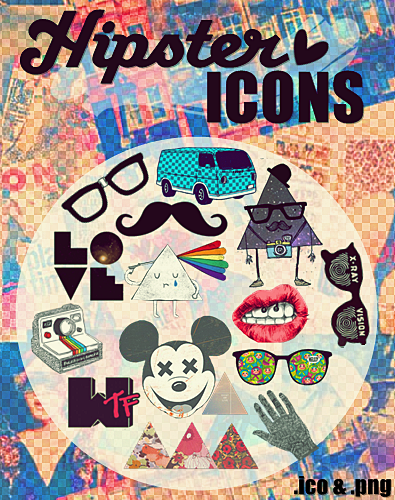 Hipster Icons by PrettyLadySwag