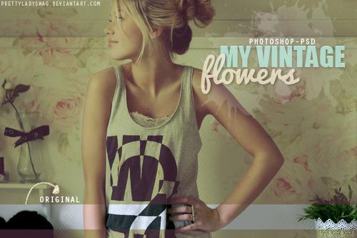 My Vintage Flowers PSD by PrettyLadySwag