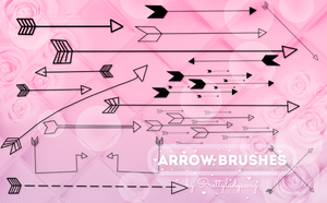 Arrow Brushes by PrettyLadySwag