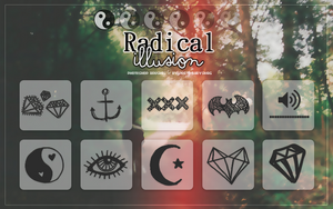 Radical Illusion Brushes by PrettyLadySwag