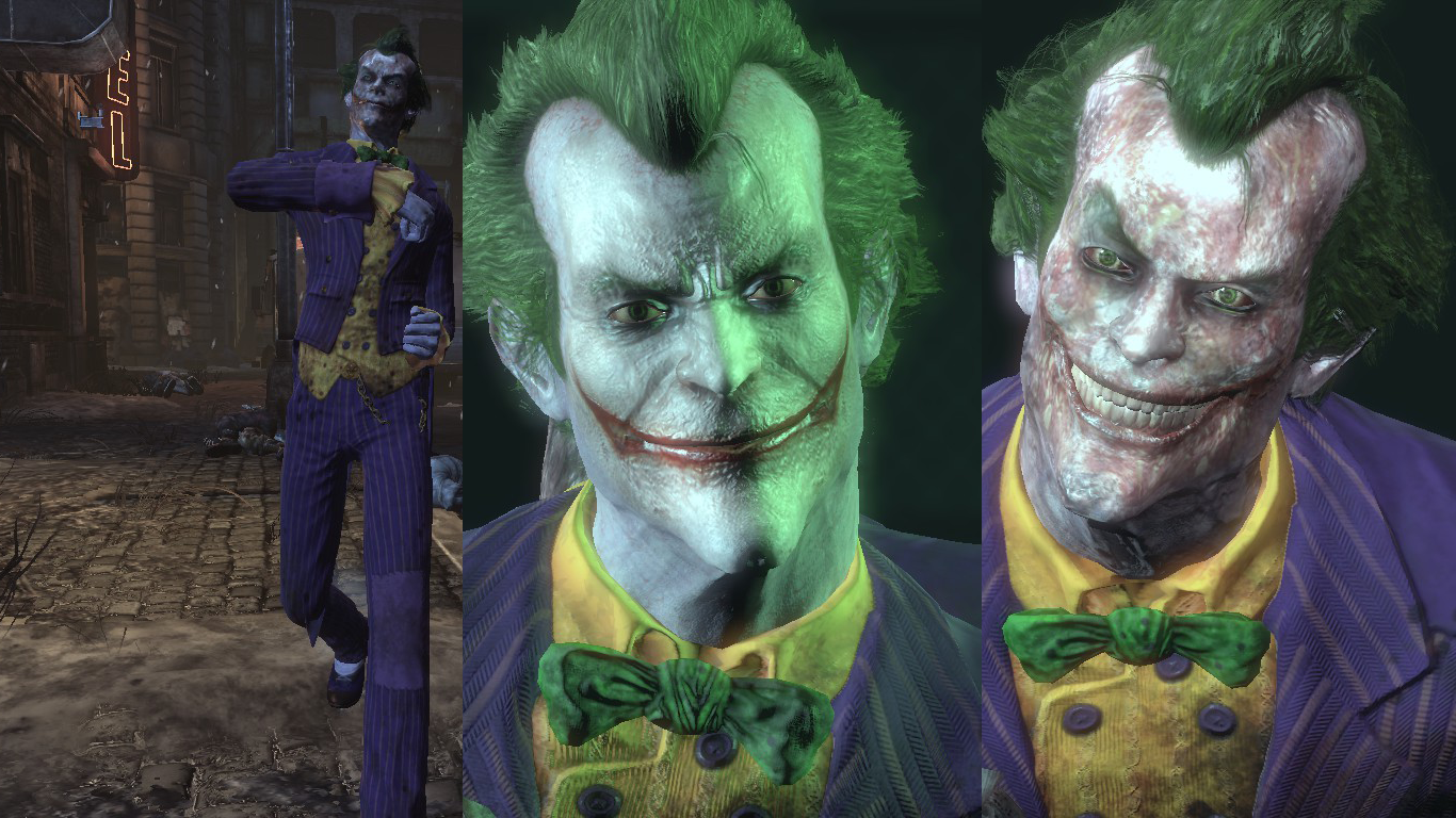 Batman vs joker wallpaper arkham city
