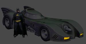 XNALARA - BATMAN ARKHAM KNIGHT - BATMOBILE 1989