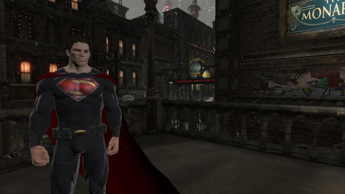 Batman: Arkham Origins: Man of Steel Mod by CapLagRobin
