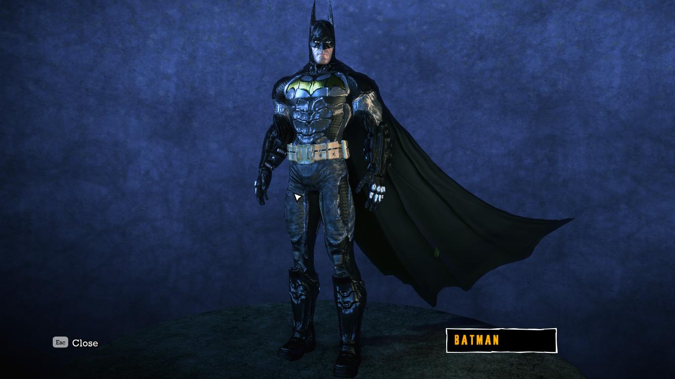 how can i change the batsuit  Batman Arkham City