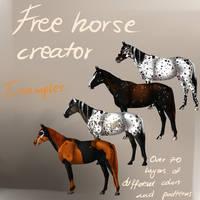 Free Horse Creator! by konikfryzyjski