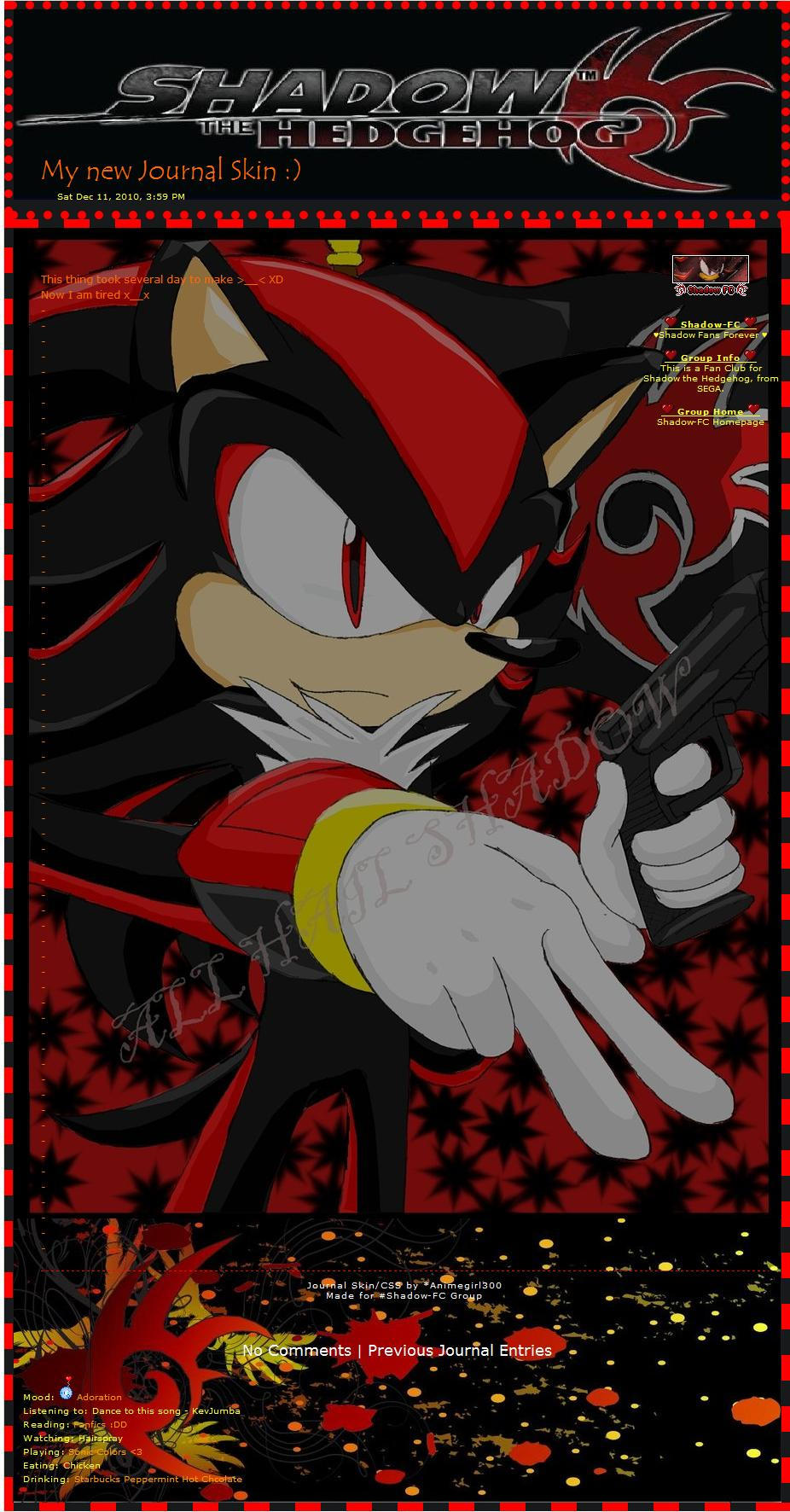 Shadow the Hedgehog Skin by Animegirl300