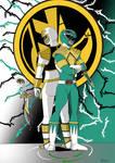 Power Ranger Green + White by Treedom54