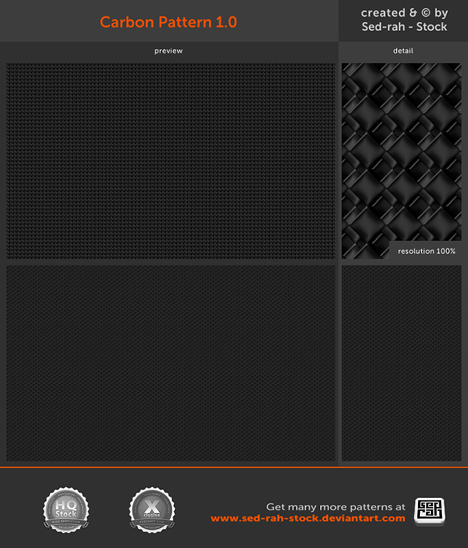 Carbon Pattern 1.0 by Sed-rah-Stock