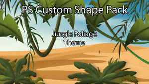 Jungle Foliage Custom Shapes