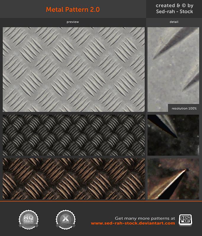Metal Pattern 2.0 by Sed-rah-Stock