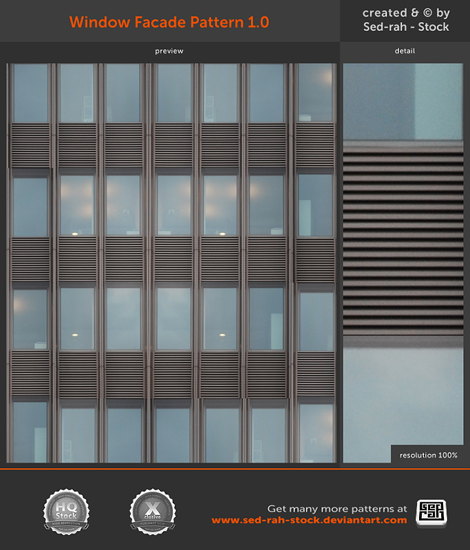 Window Facade Pattern 1.0 by Sed-rah-Stock