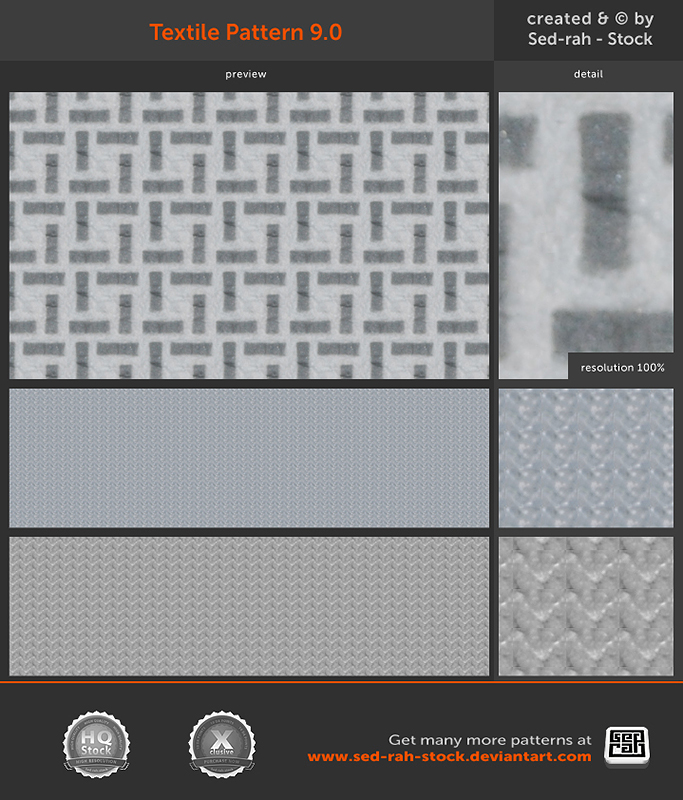 Textile Pattern 9.0 by Sed-rah-Stock