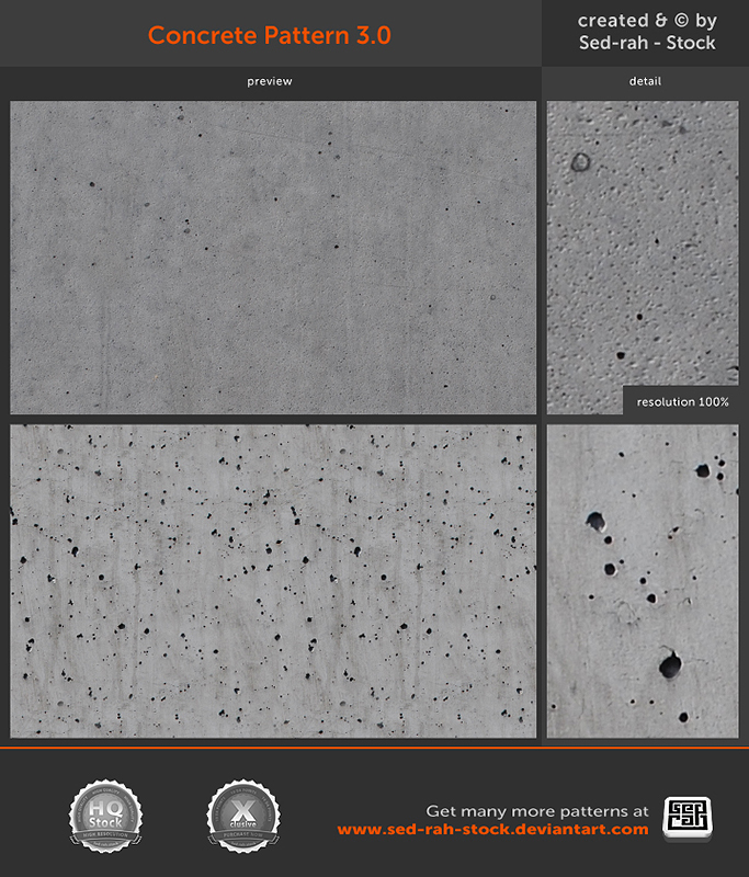 Concrete Pattern 3.0 by Sed-rah-Stock