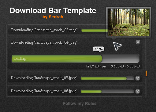 Download Bar Template
