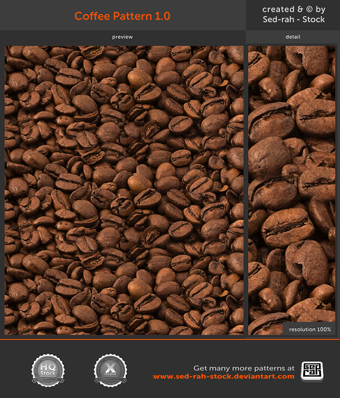 Coffee Pattern 1.0 by Sed-rah-Stock
