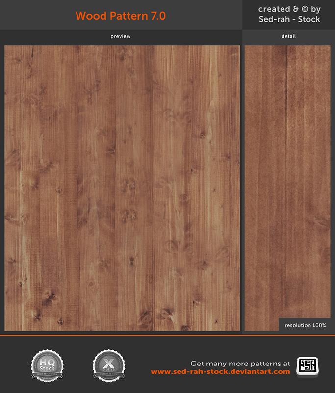 Wood Pattern 7.0 by Sed-rah-Stock