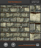 Roof Tile Pattern 2.0 by Sed-rah-Stock