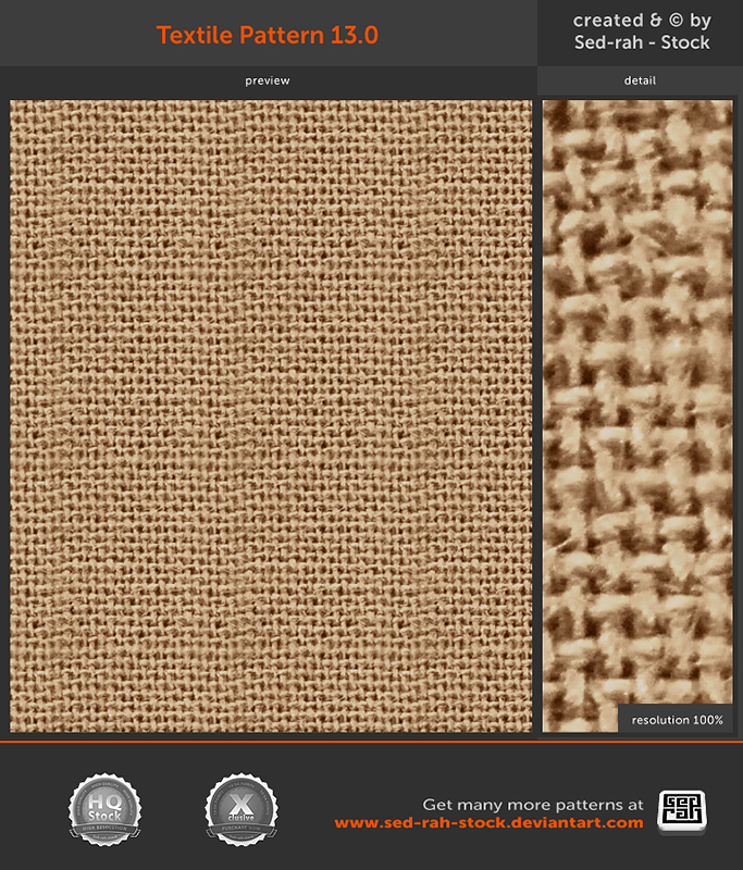 Textile Pattern 13.0 by Sed-rah-Stock