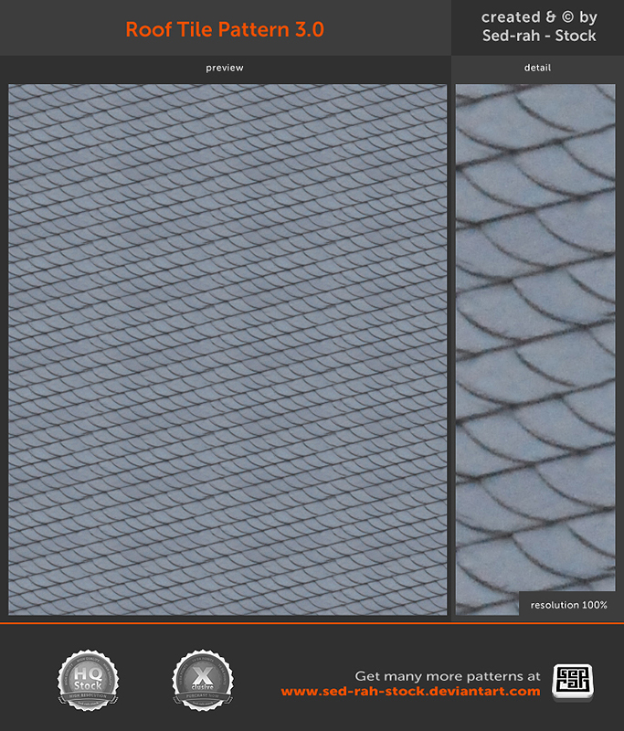 Roof Tile Pattern 3.0 by Sed-rah-Stock