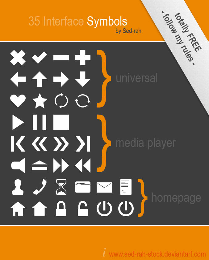 Symbol Shapes 1.0 by Sed-rah-Stock