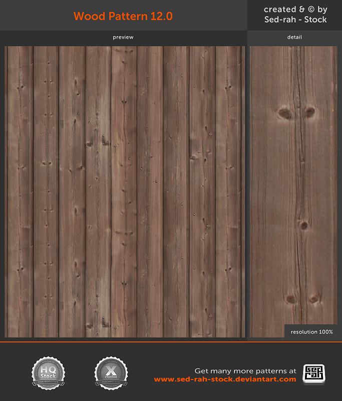 Wood Pattern 12.0 by Sed-rah-Stock