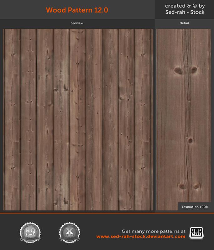 Wood Pattern 12.0 by Sed-rah-Stock