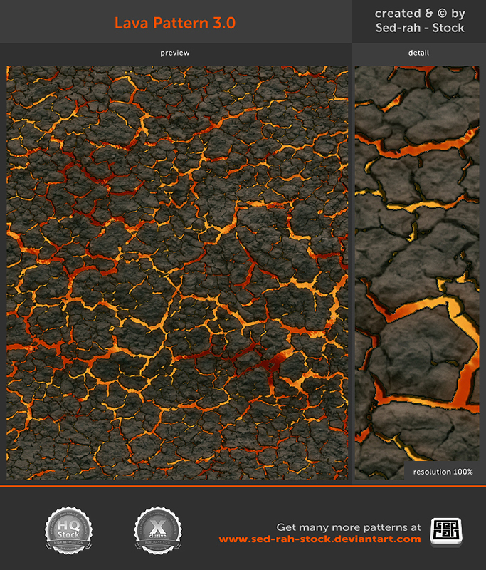 Lava Pattern 3.0 by Sed-rah-Stock