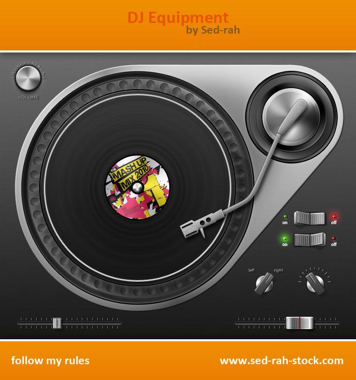 DJ Equipment PSD by Sed-rah-Stock