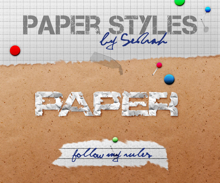 Paper Styles by Sed-rah-Stock