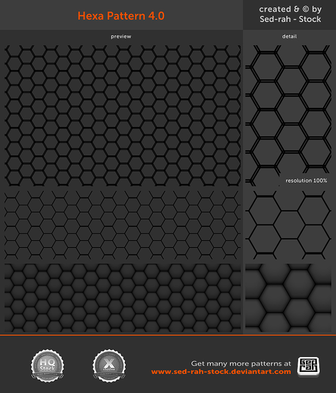 Hexa Pattern 4.0 by Sed-rah-Stock