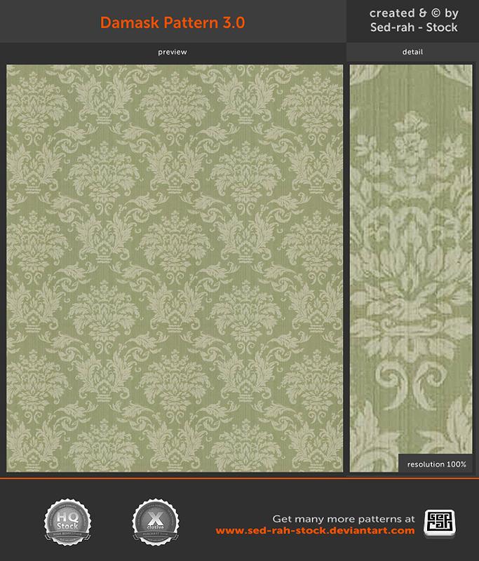Damask Pattern 3.0 by Sed-rah-Stock