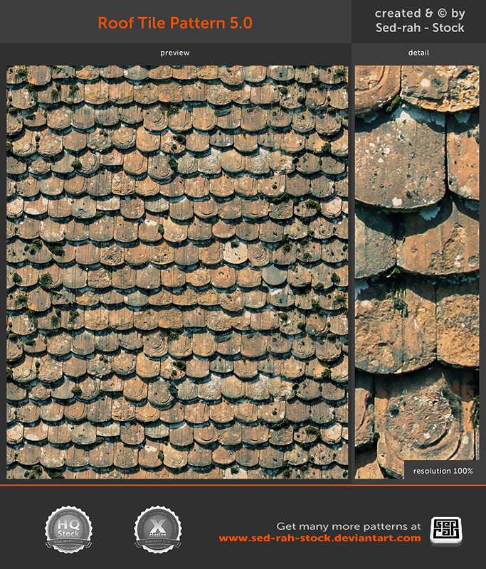 Roof Tile Pattern 5.0 by Sed-rah-Stock