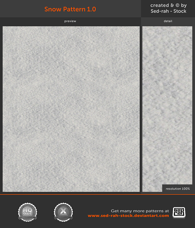 Snow Pattern 1.0 by Sed-rah-Stock