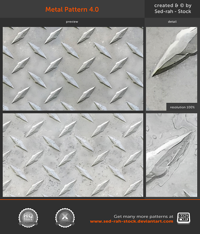 Metal Pattern 4.0 by Sed-rah-Stock