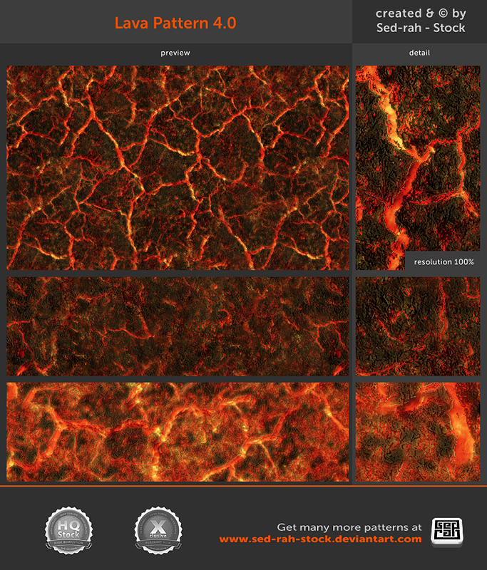 Lava Pattern 4.0 by Sed-rah-Stock
