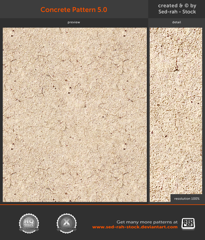 Concrete Pattern 5.0 by Sed-rah-Stock
