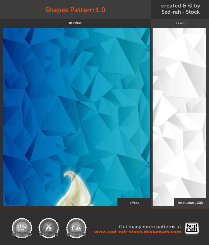 Shapes Pattern 1.0 by Sed-rah-Stock